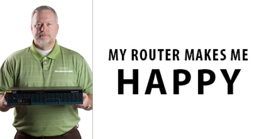 My Router Makes Me Happy