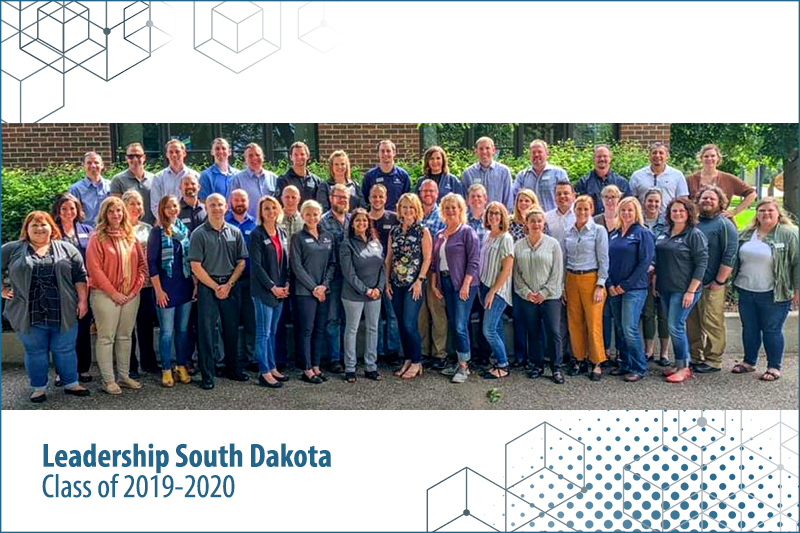 Group photo of Leadership South Dakota Class of 2019-2020 with Greg Robinson