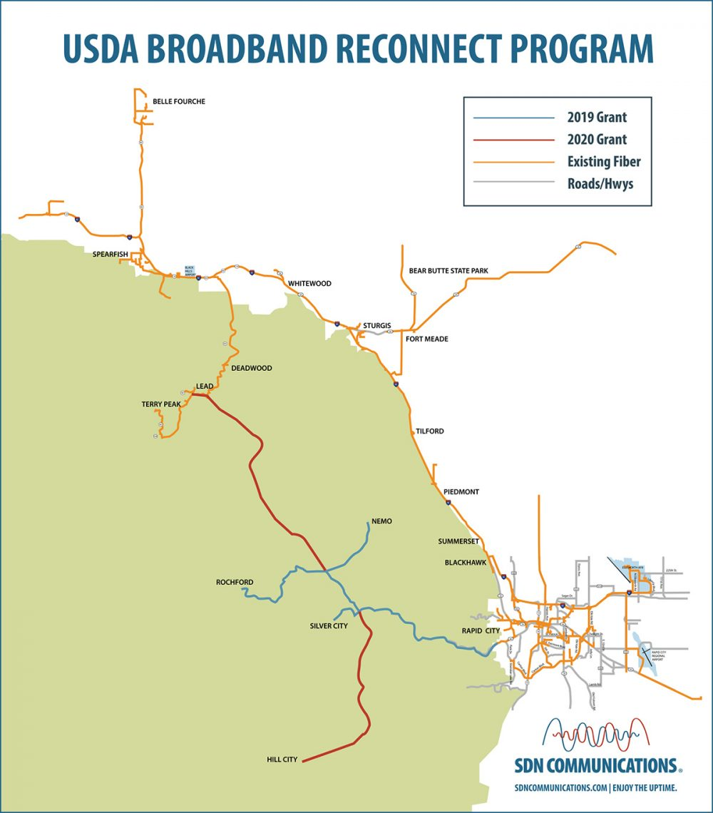 2020 ReConnect Fiber Award Map